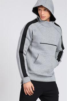 Hooded Kangaroo Model Gray Sweatshirt Model and Price - Man Fashion 2019 Sport Fashion, Mens Fashion, Stylish Hoodies, Vetement Fashion, Hoodie Outfit, Mens Activewear, Mens Sweatshirts, Women's Coats, Sportswear