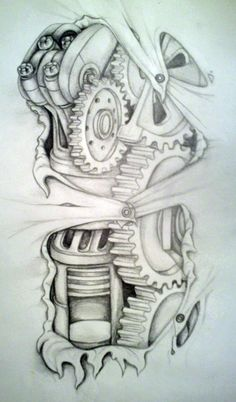 biomechanical tatt idea by MirandaAmber on DeviantArt