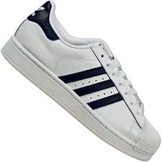 Leather Men, Leather Shoes, Adidas Originals Superstar, Navy Blue, Blue And White, Unisex, Fashion Shoes, Adidas Fashion, Black Suede