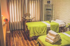 Treatment Room at Myddfai Spa at Stradey Park Hotel, Llanelli, South Wales