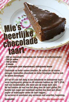chocolade taart  ga ik proberen met plantenboter