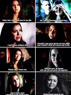 Vampire Diaries | Elena & Damon This producers/writers sure know how to break my heart into a million pieces and then just shatter it again.
