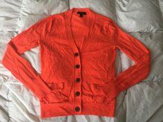 J Crew Neon Orange Merino Wool Cardigan Women's Sz XS | eBay