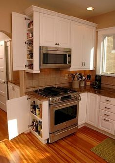 10 Valiant Tips AND Tricks: Farmhouse Kitchen Remodel Lighting Ideas open kitchen remodel doors.Small Kitchen Remodel No Window kitchen remodel black appliances oak cabinets.Small Kitchen Remodel No Window. Kitchen Ikea, Kitchen Pantry Cabinets, Kitchen Flooring, Kitchen Storage, Smart Kitchen, Kitchen Countertops, Awesome Kitchen, Kitchen Small, Small Kitchen Designs