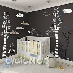 Love the derer and fox!! Nursery Wall Decals NEW item DISCOUNTED price by evgieNev on Etsy, $110.00