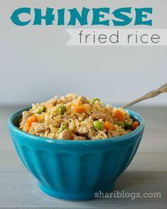 Chinese Fried Rice via Shari Blogs | www.shariblogs.com