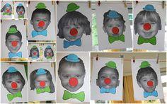 Clowntjes met eigen foto maken
