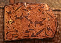 Hand carved leather women's wallet by RiverTownLife on Etsy, $150.00