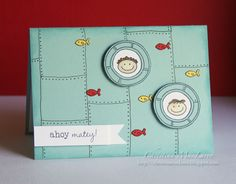 Possibly the cutest card ever. Read about how she did the background. By Christina MacClaren.