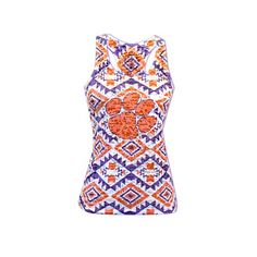 Image for Chicka-d Women's Clemson University Aztec Burnout Tank Top from Academy
