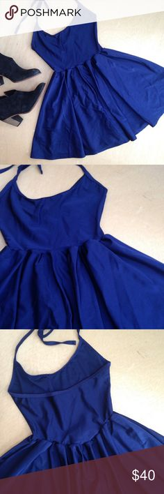 AA • n y l o n  s k a t e r  d r e s s w e l c o m e  t o  m y  c l o s e t.   AA nylon tricot figure skater dress. Navy.  EUC - worn 1x. No flaws.                                          Nylon/elastane. halter spaghetti ties.  Approx 21.75in in length.  All reasonable offers welcomed.                    question/unsure? let's talk.                    same day or next day shipping  Thanks for looking, liking, and sharing American Apparel Dresses