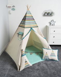 teepee tent, indian teepee kids play tent, children teepee tent, teepee for boy, INDIAN Childrens Teepee, Kids Teepee Tent, Teepees, Tp Tent, Indian Teepee, Play Houses, Kids Bedroom, Perfect Place, Toddler Bed