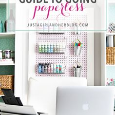 Love this helpful post about going paperless! This couple keeps all of their files digitally-- no paper filing cabinet or cluttered mess of folders! Click over to the post to see how they do it step by step!
