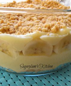 Banana Pudding made from scratch...taste so much better than a boxed mix! SugarplumsKitchen.com