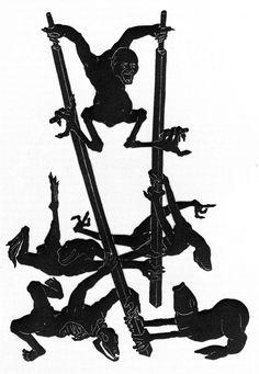 Otto Neumann - Grotesque 12 - Grotesque on Stilts, 1930