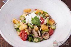 Receita de Nhoque de mandioca com cogumelos em receitas de massas, veja essa e outras receitas aqui!