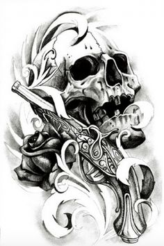 18 Best Vintage Clock And Skull Tattoo Images Skull Tattoos
