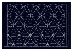 Sashiko Placemat Sampler - Preprinted with wash out stitching lines. This placemat features an arrow design. Arrow Design, Shibori, Decorating Your Home, Coasters, Quilts, Pattern, Placemat, Stitching, Size 12
