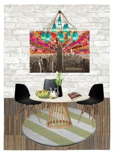 """Sin título #100"" by liznickyq on Polyvore featuring interior, interiors, interior design, hogar, home decor, interior decorating, WallPops, Bloomingdale's, Tom Dixon y LSA International"