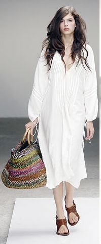 long white tunic dress