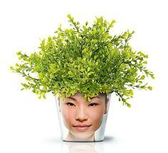 Moderne Pflanzgefäße mit Gesicht – lustige coole Deko Ideen -