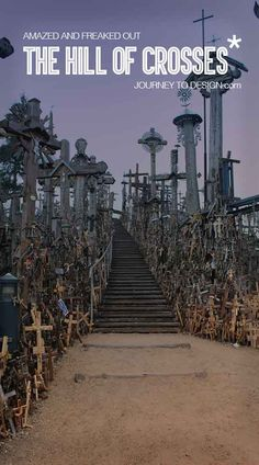 * this place really rendered me speechless! The hill of crosses in Lithuania