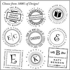 three designing women custom designer personalized self inking stamp - choose from 1000's of designs - $19.32 - from amazon