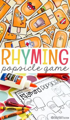 Popsicles and summer just go together perfectly. While some popsicles are great by the pool, but these popsicles are a great summer rhyming game for you and your students to enjoy together. Perfect for preschoolers who love to color! #Rhyming #Games #Summer #preschool #Preschoolers #kidslearning #Learningactivities #mrsjonescreationstation