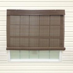 Coolaroo Walnut Cordless Exterior Roller Shade   120 In. W X 96 In. L