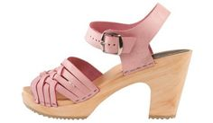Herringbone Pink Clog - New higher heel with open toe. Solid pastel pink soft nubuck leather upper with a stapled construction on high 3-inch heel on a lightweight wooden foot bed with an earth-friendly, non-slip rubber bottom. It will give any outfit a springtime punch-up. Available in Adults' sizes 35-42. SKU #4003016. Order here: http://store.capeclogs.com/Bohemian-4-2-1.aspx.