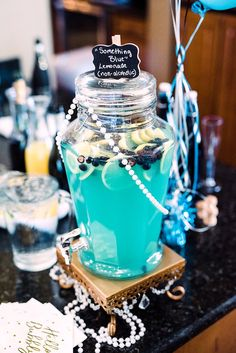 If so, this Tiffany & Co. Bridal Shower at Kara's Party Ideas is for you and all of your girls! Tiffany Co Party Ideas, Breakfast At Tiffanys Party Ideas, Tiffany Blue Party, Tiffany Birthday Party, Blue Birthday Parties, Tiffany Theme, Tiffany & Co., Tiffany Blue Decorations, Blue Party Decorations