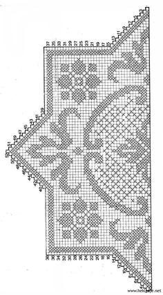 Šeme za heklanje – Page 151 Crochet Dollies, Crochet Doily Patterns, Crochet Borders, Crochet Motif, Crochet Designs, Filet Crochet Charts, Crochet Cross, Thread Crochet, Cross Stitch Pillow