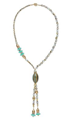 Jewelry Design - Single-Strand Necklace with Swarovski Crystal, Ceramic Bead and Gold-Plated Brass Beads - Fire Mountain Gems and Beads