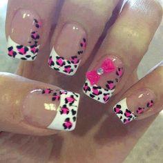 cute leopard nails