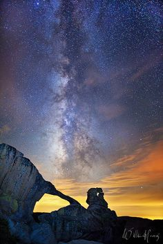 ~~Peering Into Time | Milky Way rises over Indian Rock Arch in Yosemite National Park, California by Willie Huang Photo~~