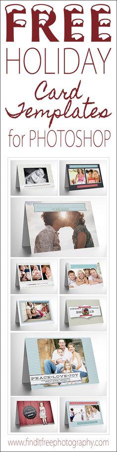 Free Photoshop Holiday Card Templates - Jeff Hendrickson Design - Pinterest
