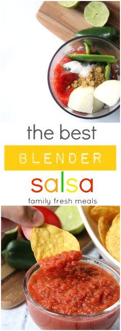 No joke! It's THE BEST! Blender Salsa Recipe