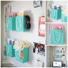 Shopping Bag Organizers | 50 Clever DIY Ways To Organize Your Entire Life  only not sure how to clean this...