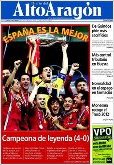 Portadas del 2 de julio 2012 – España campeón de la Eurocopa 2012 | discutivo.com