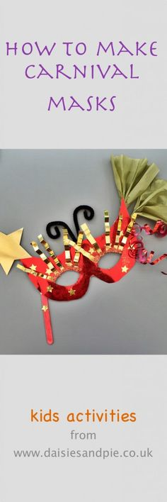 Make carnival masks with the kids - easy mask craft with loads of different directions to take the decorations in | mardi gras mask | carnival mask | masquerade mask | party masks | Daisies & Pie