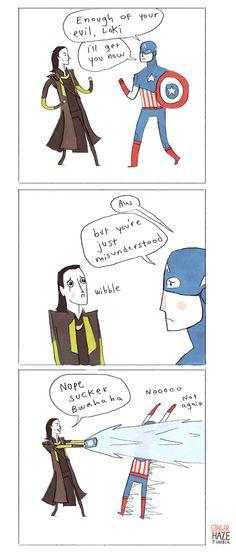 Oh, Cap... poor, gullible, Cap