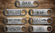 Ideal as a gift for Father& Day, this laser engraved stainless steal bottle opener comes in variety of designs Happy Fathers Day Dad, Gifts For Father, Stainless Steel Bottle, Brushed Stainless Steel, Beer Bottle Opener, Bottle Openers, Personalized Bottle Opener, Love You Dad, Picture Gifts