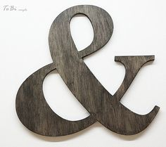 Ampersand sign 12   wooden symbol by ToBicouple on Etsy