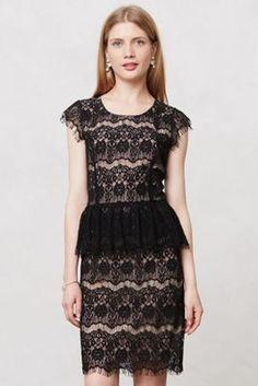 pretty lace peplum dress.