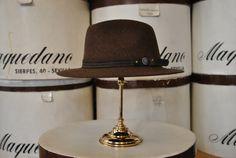 Indiana mezcla marrón. Brown Indiana Hat.