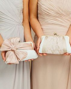 Bridesmaids Clutch / Personalized Gift for your Bridesmaids / Lace Clutch {3…