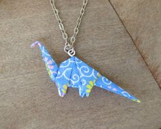 Blue Dinosaur Necklace dino necklace Dinosaur by FubiniCrafts
