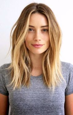 Hair Inspiration: Arielle Vandenberg | Beachy Textured Waves... | Le Fashion | Bloglovin'  Long bob  Estilo corte de pelo. Melena larga rubia
