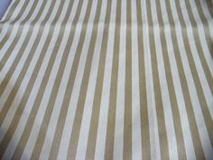 Vintage Deko Stoff fabric Streifen gold creme Scotchgard