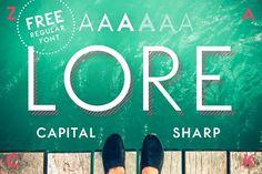 LORE - Geometric Capital Font by Studio ZACK on @creativemarket